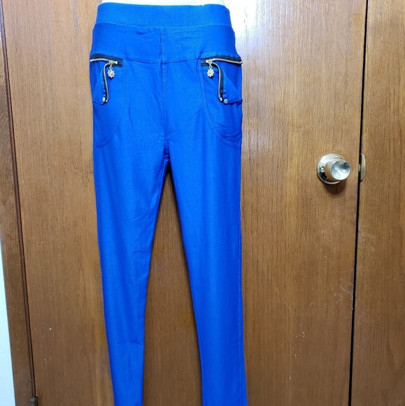 Julia Royal Blue Stretchy Jeans NWT